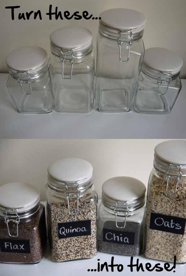 Diy Chalkboard Paint Glass Jars