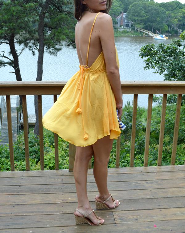 See through Yellow Dress
