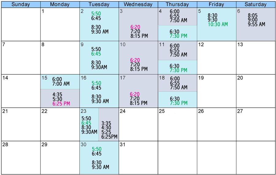 group fitness schedule december cal header december calendar