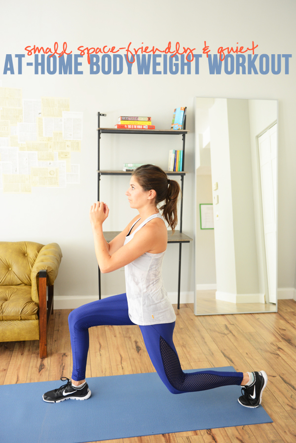 Small Space-Friendly, Quiet At-Home Bodyweight Workout | Pumps & Iron