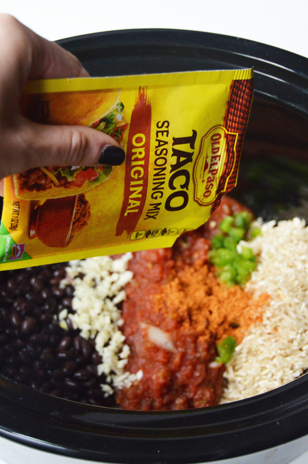 Slow Cooker Mexican Rice Beans Pumps Iron