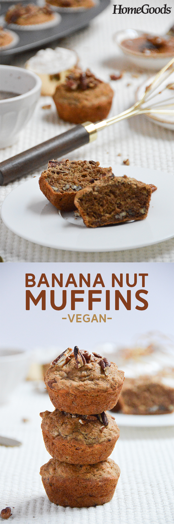 Banana Nut Muffins Vegan Pumps Iron