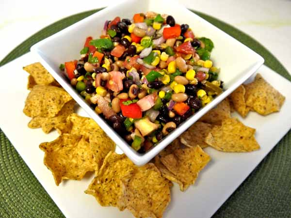 vegetable bean dip salsa