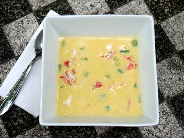 Fresh Corn and King Crab Chilled Soup
