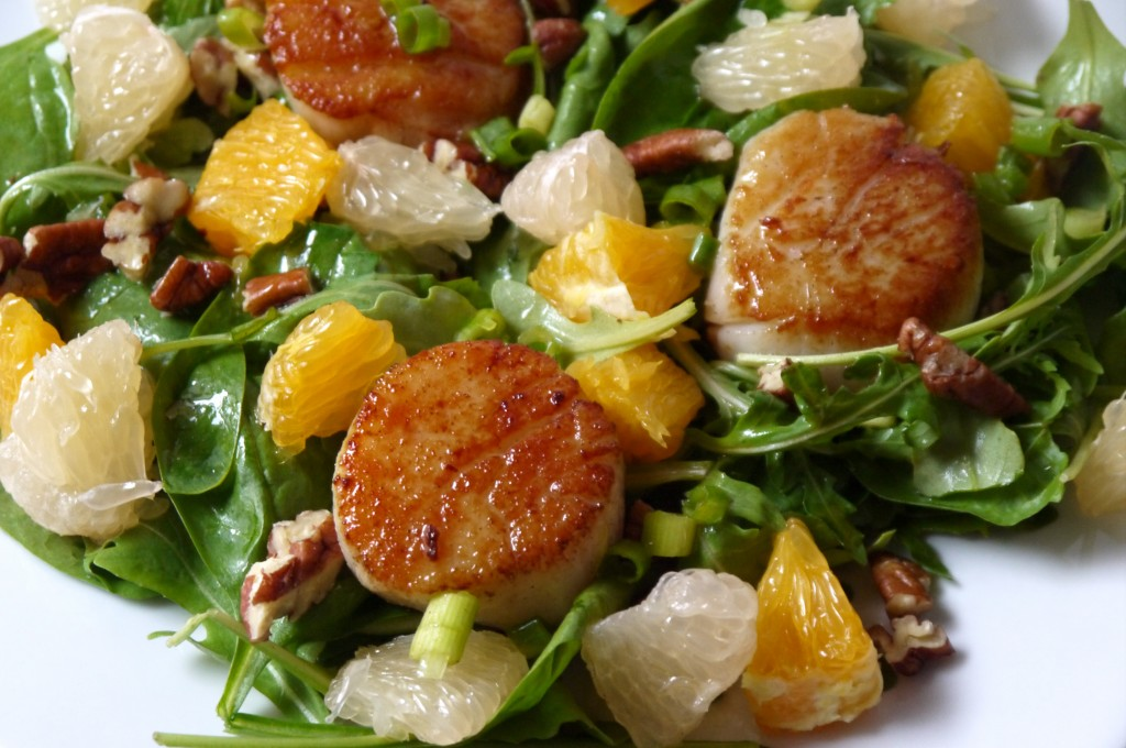 Citrus Scallop Summer Salad Recipes — Dishmaps
