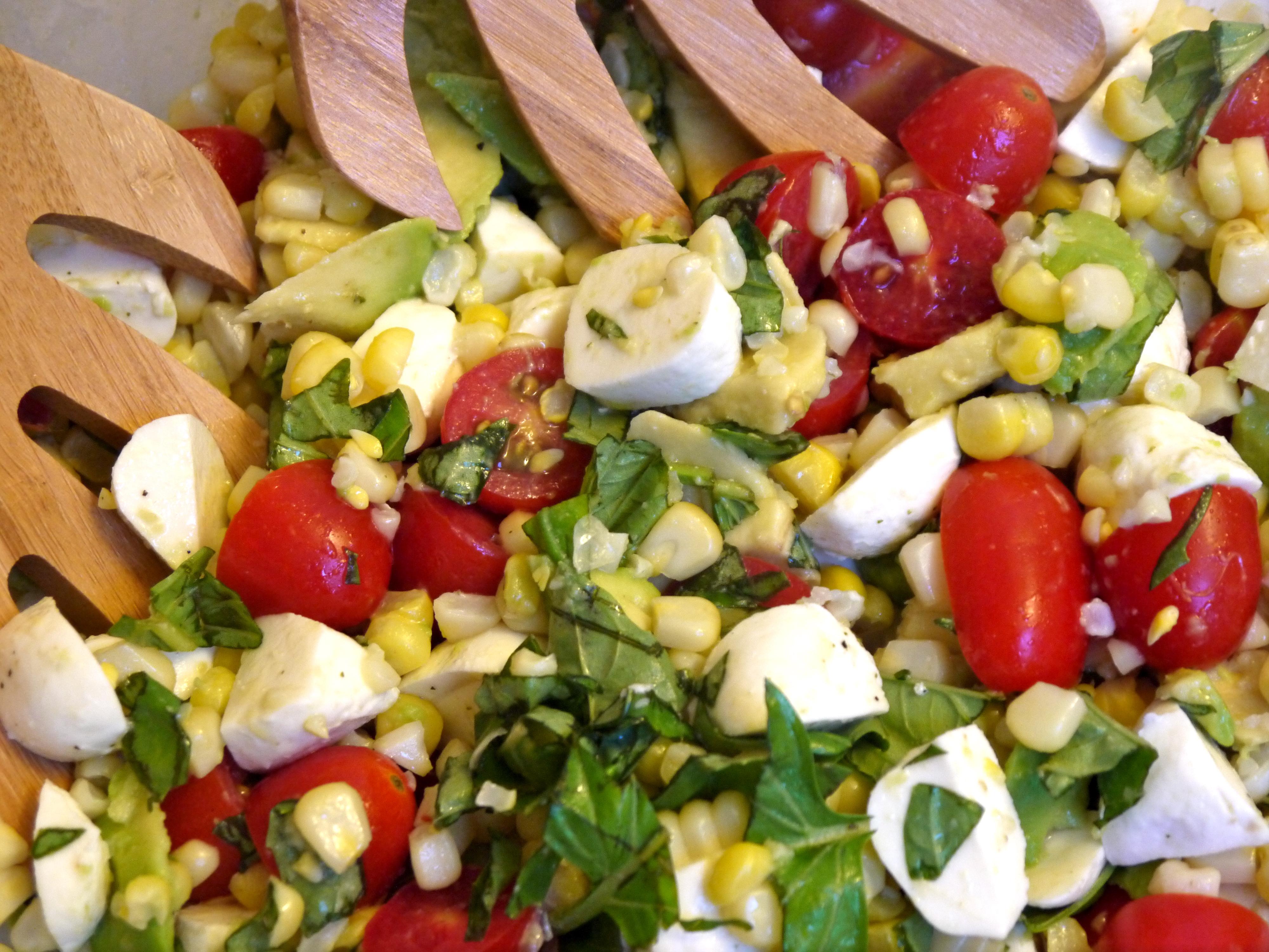 smoked mozzarella caprese salad caprese corn salad caprese corn salad ...