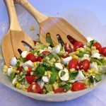 Caprese Salad with Corn and Avocado
