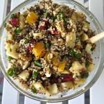 Apple Feta Quinoa Salad with Walnuts & Cranberries