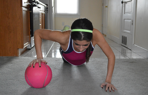med ball push ups