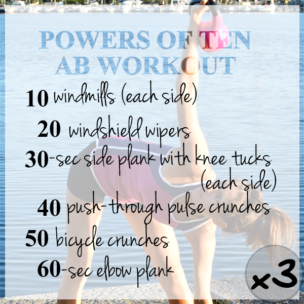 Multiples of Ten Ab Workout