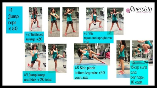 November Knockout Workout from The Fitnessista