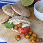 Roasted Chickpea & Arugula Mini Pita Sandwiches with a Cucumber Lime ...