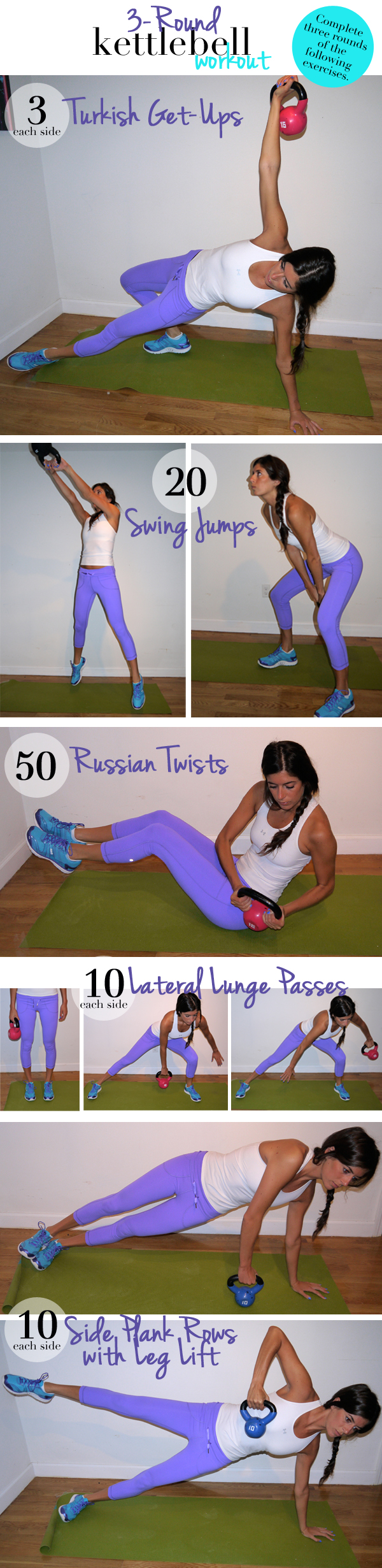 3-Round Kettlebell Workout