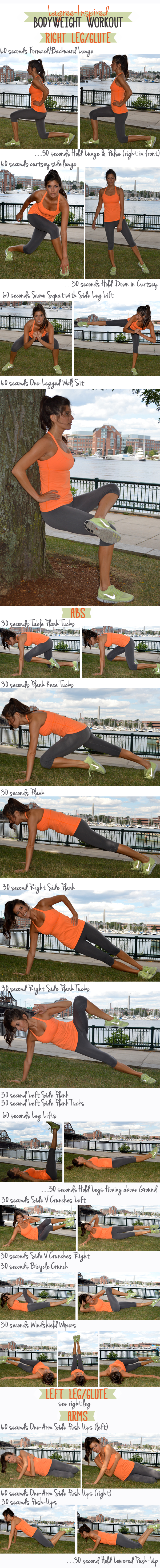 An at-home bodyweight workout inspired by the Lagree Fitness method of Pilates.