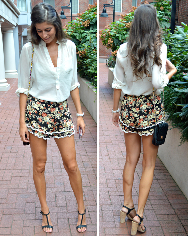 White Floral Shoes