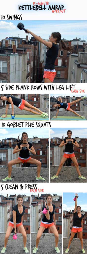 15-Minute Kettlebell AMRAP Workout | Pumps & Iron