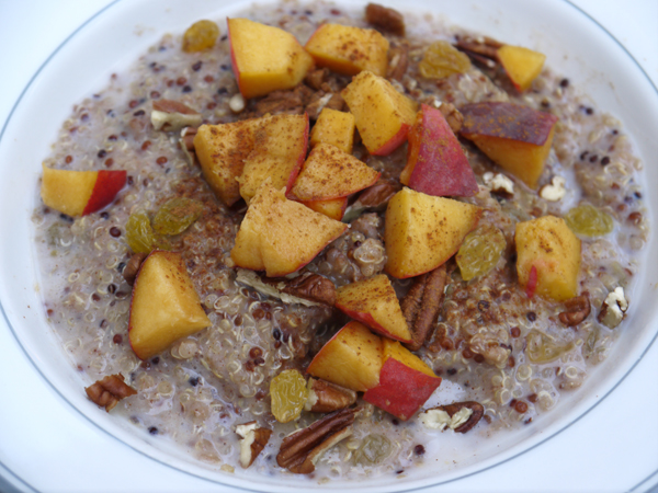 Cinnamon Peach Breakfast Quinoa