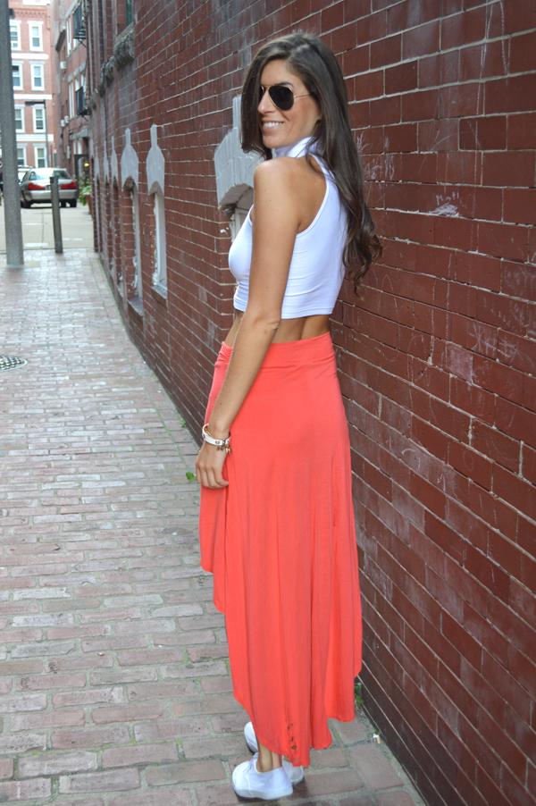 Summer Go-To High-Waisted Skirt and a Crop Top   Pumps u0026 Iron