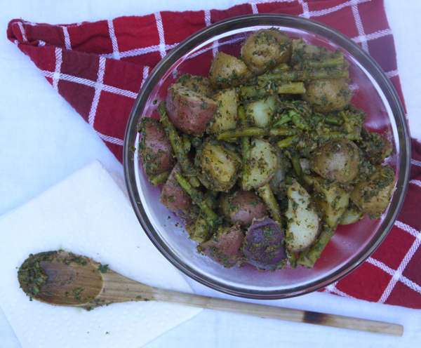 Pesto Potato Salad with Asparagus