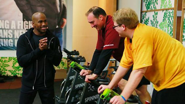 Jackson spinning with Dolvett, Biggest Loser