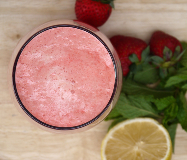 Mint Strawberry Grapefruit Juice