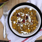 Pumpkin Apple Quinoa Salad with Pecans, Cranberries and Goat Cheese