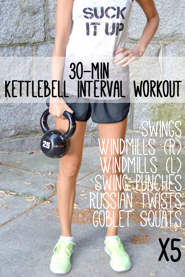 30-Minute Interval Kettlebell Workout