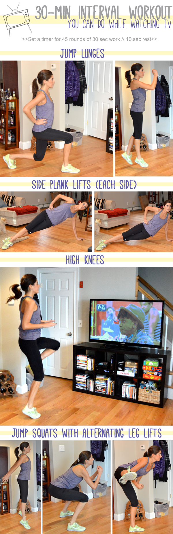 30-minute Interval Workout You Can Do While Watching TV