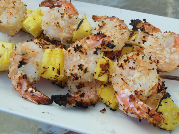 Grilled Coconut Shrimp Skewers from Danielle Prestejohn