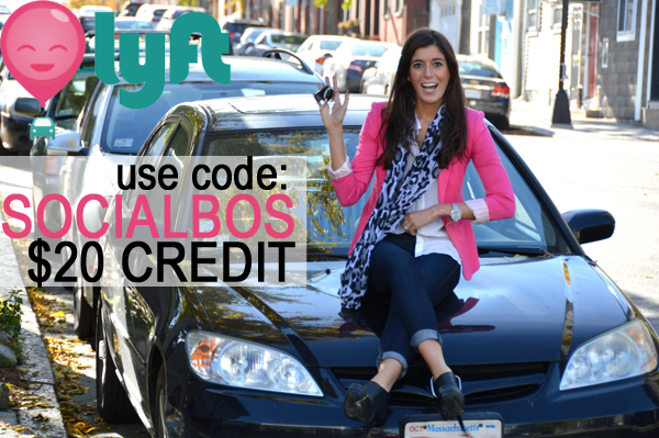 $20 in Lyft credit with code SOCIALBOS