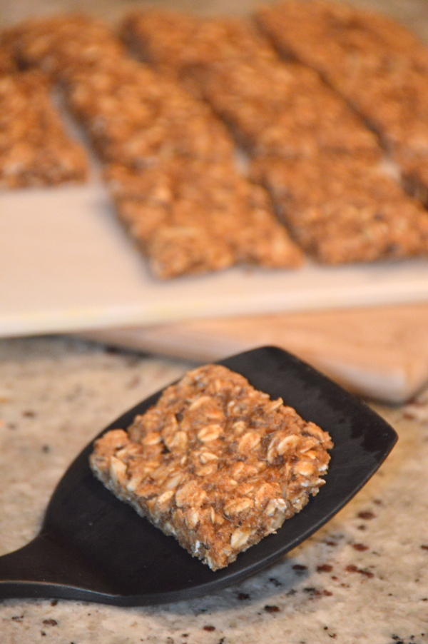 Banana Almond Butter Chewy Granola Bars (vegan)