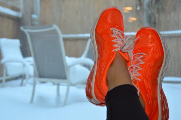 Orange Puma Sneakers