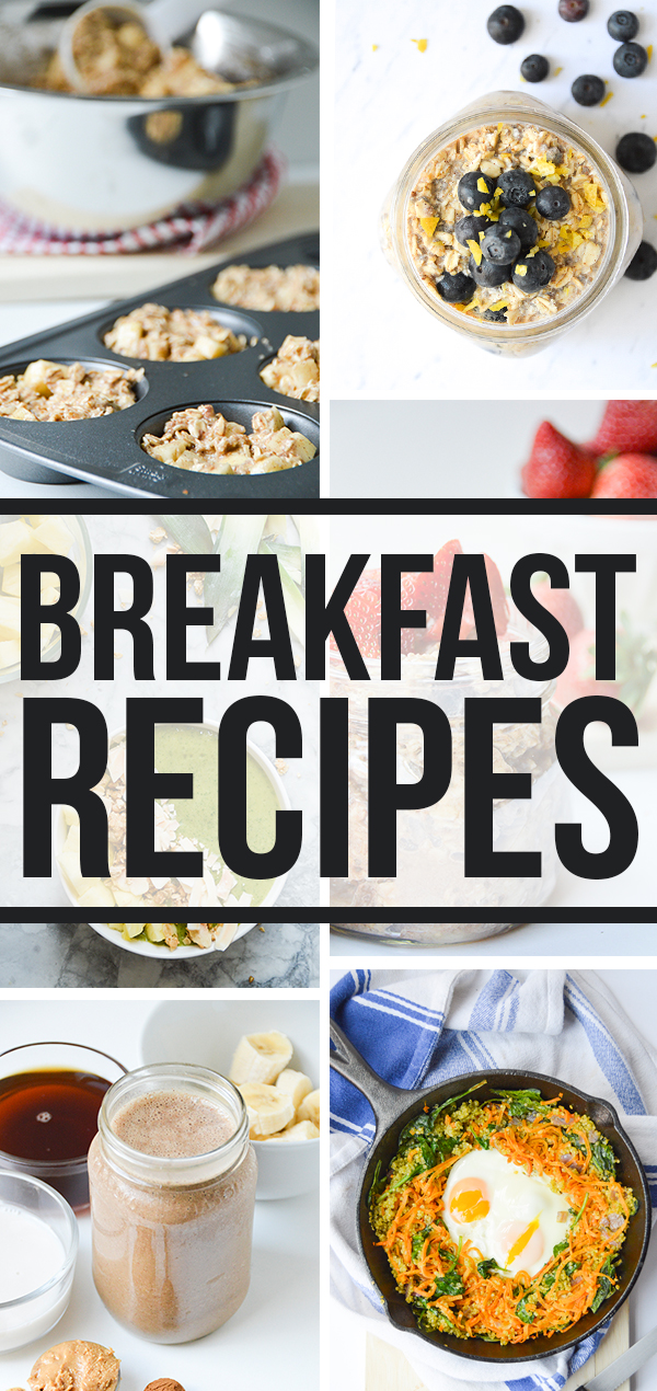 All my healthy breakfast recipes organized in one convenient place!