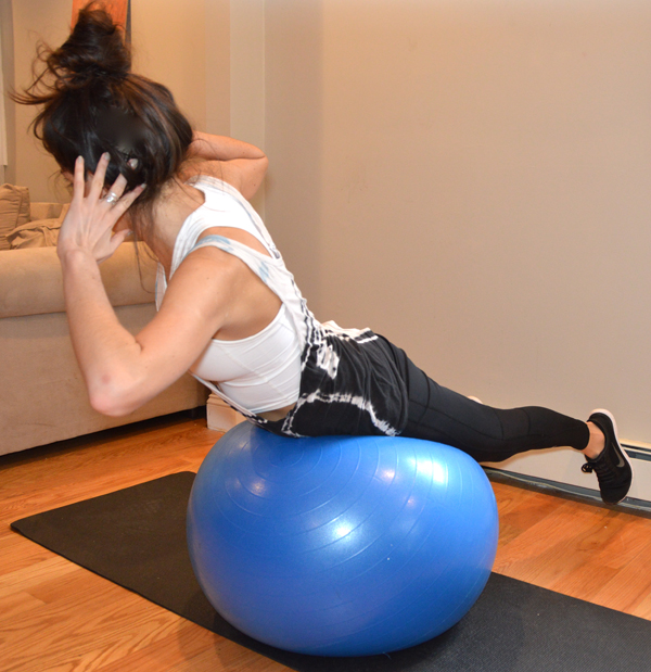 Stability Ball Side Lift: Stability Ball Superset Core Workout