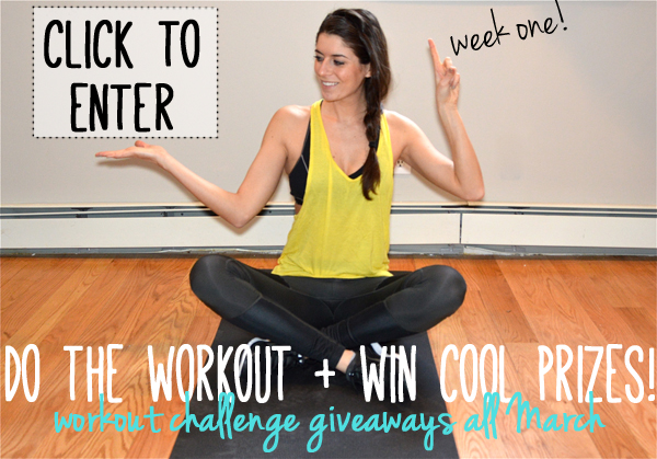 Workout Challenge Giveaway--do the workout, win cool prizes!