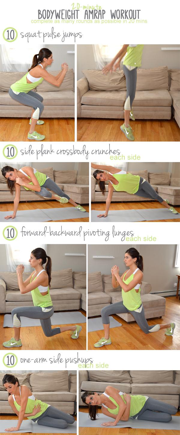 20-Minute Bodyweight AMRAP Workout