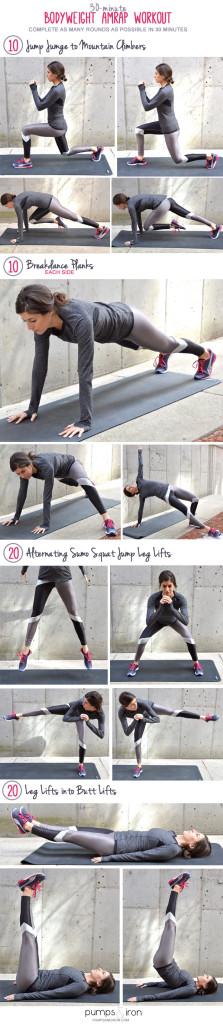 30 Minute Bodyweight Amrap Workout Pumps Amp Iron