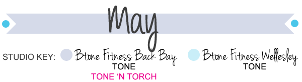 May Calendar Heading : Group fitness schedule