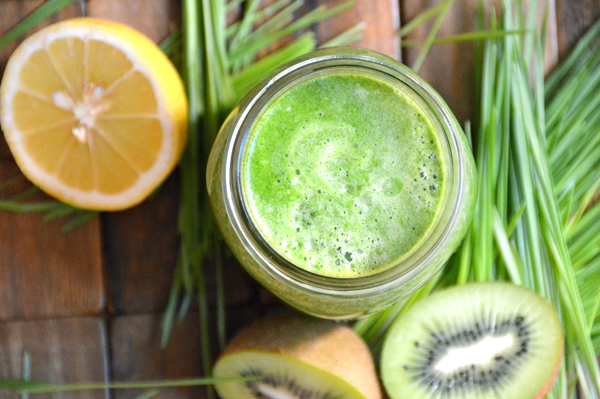 Kiwi Wheatgrass Juice