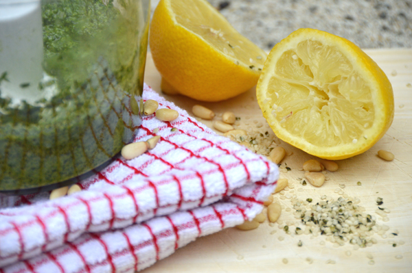 Lemon Hemp Seed Pesto Sauce (Dairy-Free)