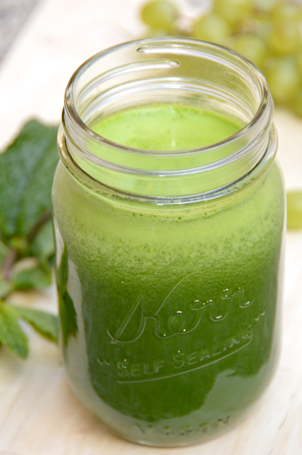 Minty Green Grape Juice