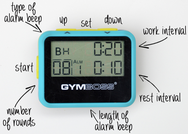 How to Set Up a Gymboss Interval Timer