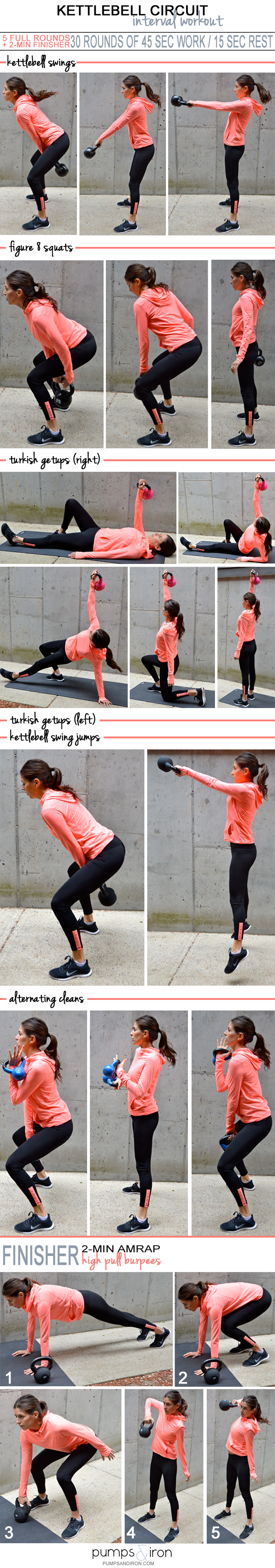 30 Minute Kettlebell HIIT Workout With Finisher