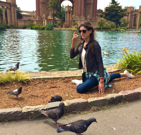pigeon pose with...pigeons