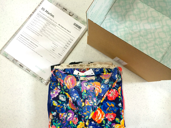 Packing up a Stitch Fix fix