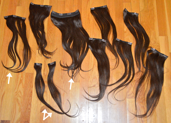 Irresistible Me clip-in hair extensions