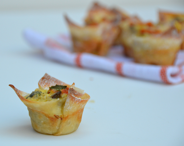 Mini Won Ton Cup Omelets