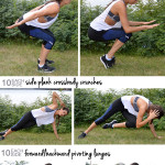 Bodyweight Circuit with Running Pyramid Workout