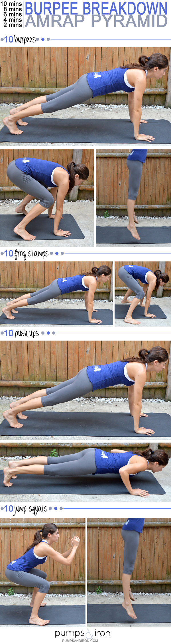 Burpee Breakdown AMRAP Pyramid Workout