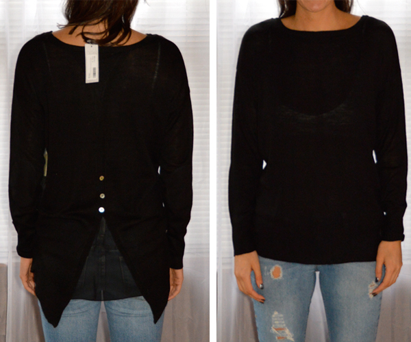 black sweater from stitch fix